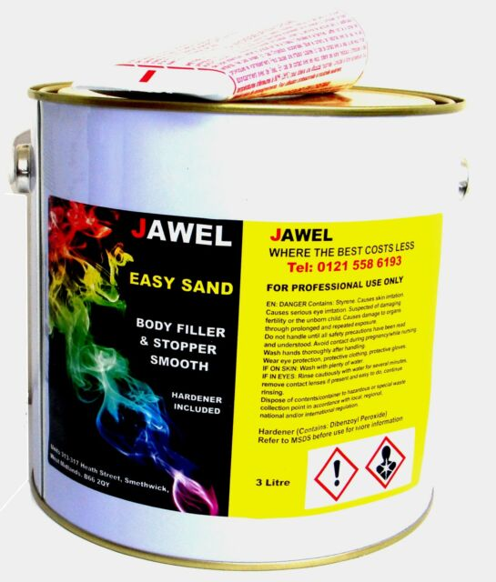 CAR PAINT BODY FILLER / STOPPER ,EASY SANDING, LIGHTWEIGHT  BIG 3kg size