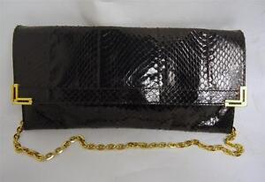 vintage a Tracolla in tracolla di nera con pelle catena serpente 7xwqFA