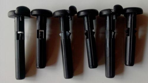 jeu de 3 appuie-tête noir banquette siege arriere Peugeot 207 avec 6 guides