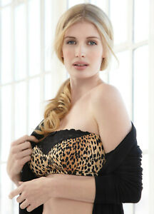 Glamorise-Sexy-Strapless-STRETCHES-TO-FIT-B-C-or-D-Label-reads-B-C-D-Leopard