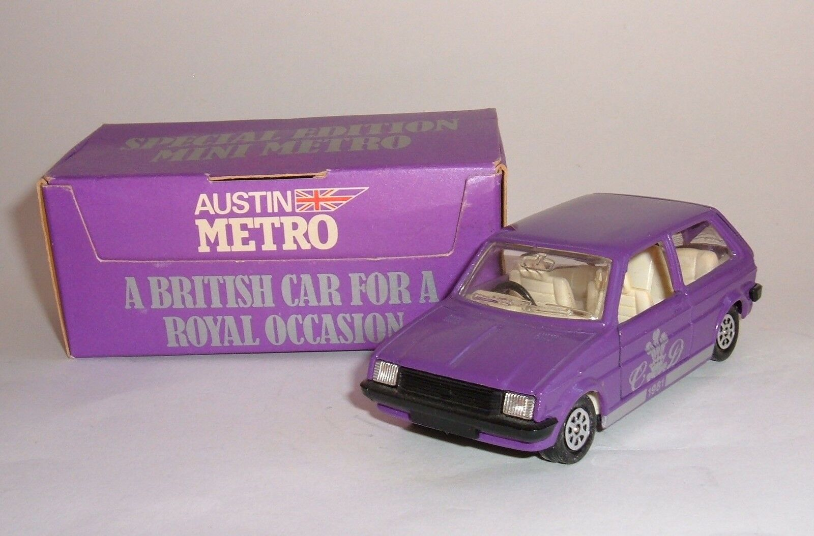 Corgi Toys No. 51693, Royal Wedding Special Edition Mini Metro, - Superb Mint.