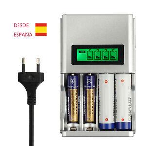 7df024ae2ef La imagen se está cargando Cargador-de-baterias-recargables-AA-y-AAA-NiMH-