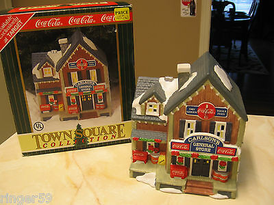 COCA COLA TOWN SQUARE BUILDING CARLSON'S GENERAL STORE 1996 TARGET EXCLUSIVE