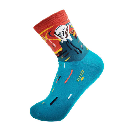 Mens Combed Cotton Funny Socks Funny Fruits Animal Casual Fashion Breathable