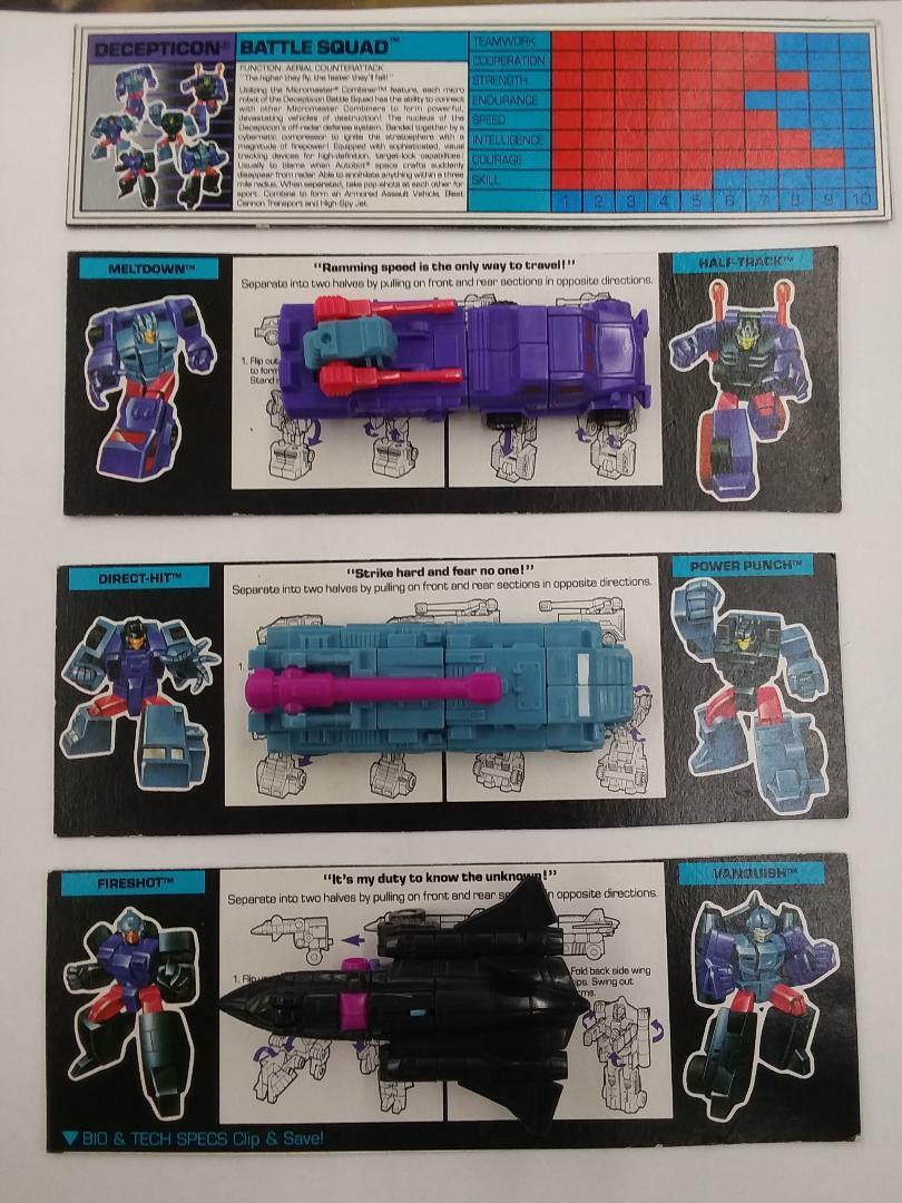 Transformers Action Masters complete with card - Micro Masters Battlesquad