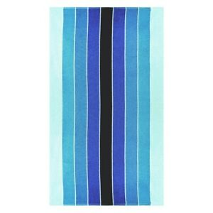 """Pacific Blue Striped Over-Sized Beach Towels 100/% Cotton 450 GSM 34/"""" x 64/"""""""