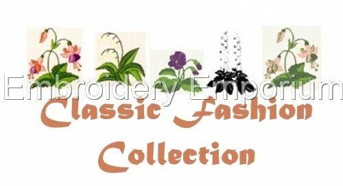 Colección Clásicos de Moda-diseños de bordado de la máquina en CD o USB
