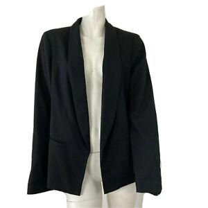 Katherine-Barclay-Montreal-Womens-Black-Open-Front-Blazer-Size-Medium