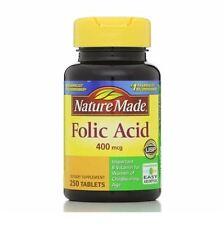 Nature Made Folic Acid 400 mcg Tablets 250 ea (Pack of 2)