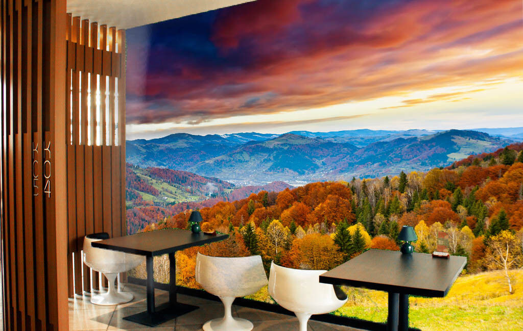 3D Jungle Hill Cloud 9 Wall Paper Murals Wall Print Wall Wallpaper Mural AU Kyra