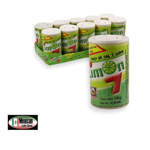 Limon 7 Salero Anahuac Salt & lemon powder Mexican candy 4.2-oz box 10-pcs box