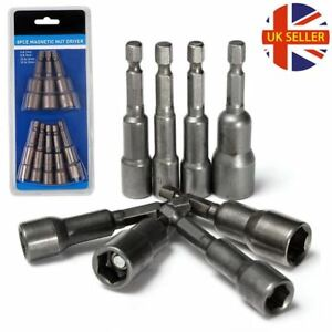 "8Pcs 1//4/"" HEX Magnetic Nut Driver Socket Metric Impact Drill Bit 6mm to 13mm Set"