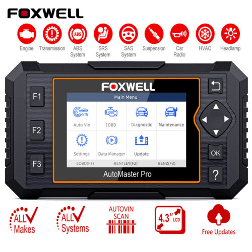 Foxwell NT624Elite All Systems Automotive Diagnostic Scan Tool OBDII Code Reader