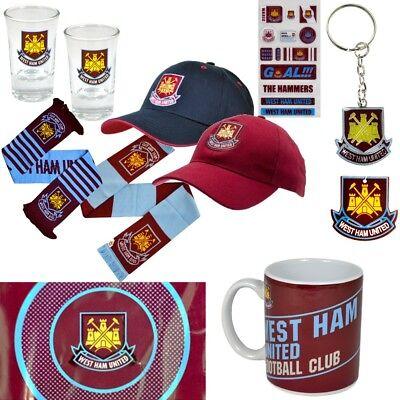 Schal Tasse Cap Fahne Sticker SchnapsglÄser West Ham United Neu