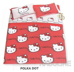 Copriletto Hello Kitty Gabel.Copriletto Trapuntino 1 Piazza Hello Kitty Gabel Rosso Ebay