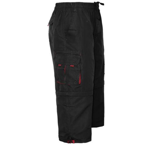 Mens Elasticated Cargo Combat Plain Shorts 6 Pocket Long Half Gym Beach Pant