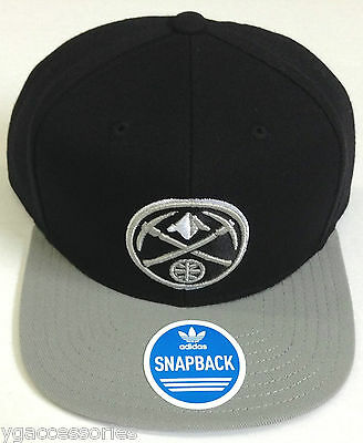Memorabilia Sporting Goods Nba Denver Nuggets Adidas Two-tone Flat Brim Snapback Hat Cap New