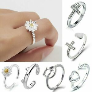 Silver-Hollow-Heart-Flower-Rings-Ocean-Wave-Ring-Women-Fashion-Jewelry-Gifts-New