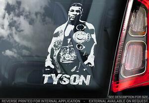 Mike-Tyson-Coche-Pegatina-Ventana-Campeon-de-Boxeo-Cartel-Hierro-TYP2
