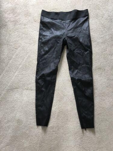 nera in Jitrois 40 elasticizzata pelle Taglia Leggings qtHxT6ww