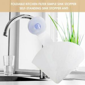 Funnel-Sink-Filter-Drain-Self-standing-Folding-Reusable-Kitchen-Home-Basket-KIt