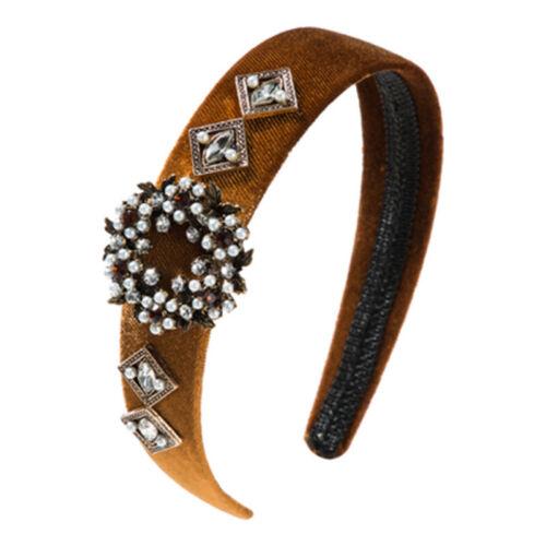 Baroque Women/'s Embellished Headband Jewelled Hairband Crystal Crown Tiara Party