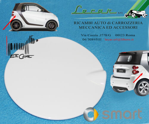 COPERCHIO SPORTELLO CARBURANTE BIANCO SMART FORTWO 451 7//2007 />10//2014 ORIGINALE
