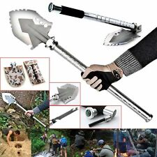 Steel Emergency Compact Emergency Survival Camping Pick Hiking Shovel Gear Kit