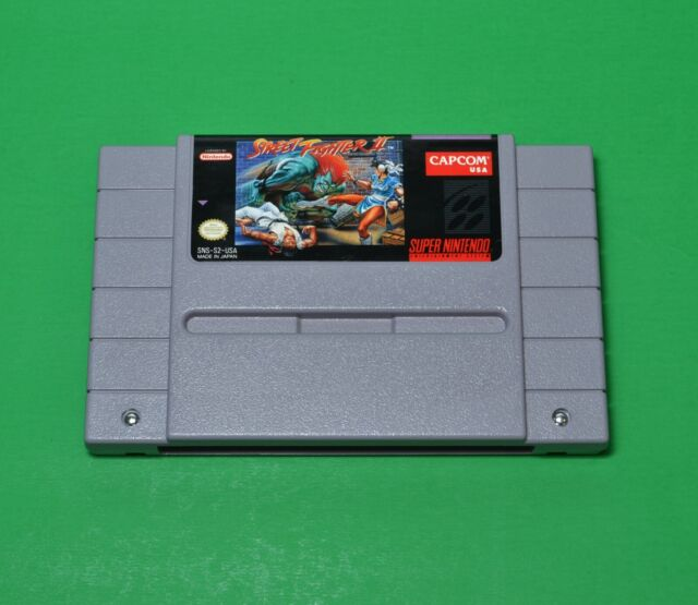Street Fighter II SNES Game - Authentic Cartridge - Excellent - Contacts Cleaned