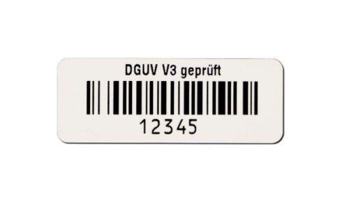 500 Stück Barcodeetiketten für Gerätetester DGUV V3 Prüfung