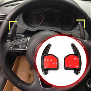 Carbon-Fiber-Shift-Paddle-Steering-Wheel-For-Audi-A1-A3-S4-6-S3-S4-S5-6-Q5-Q7-TT