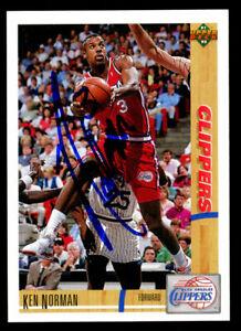 Ken Norman #111 signed autograph auto 1991-92 Upper Deck Basketball Card