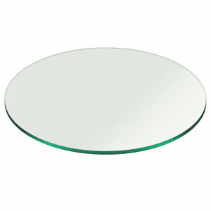 Glass Table Top 48 Round 3 8 Inch Thick Pencil Polish Edge Tempered 700115371179 Ebay