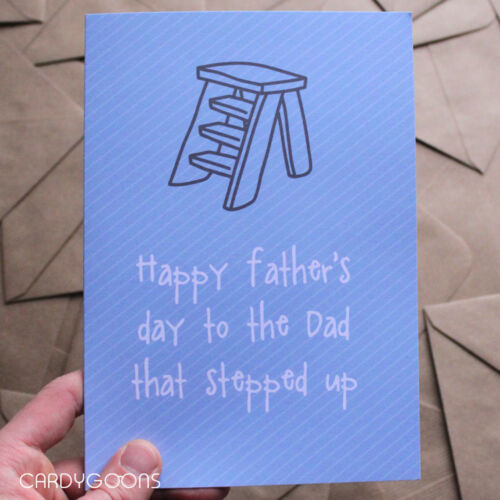 Banter Humour Dad Funny Father/'s Day Stepdad Card Dad that stepped up
