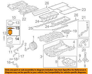 Jaguar OEM 5.0 V8 XF/XJ/XK8/3.0 S/C V6-Engine-Elemento de Filtro de aceite  C2D3670 | eBayeBay