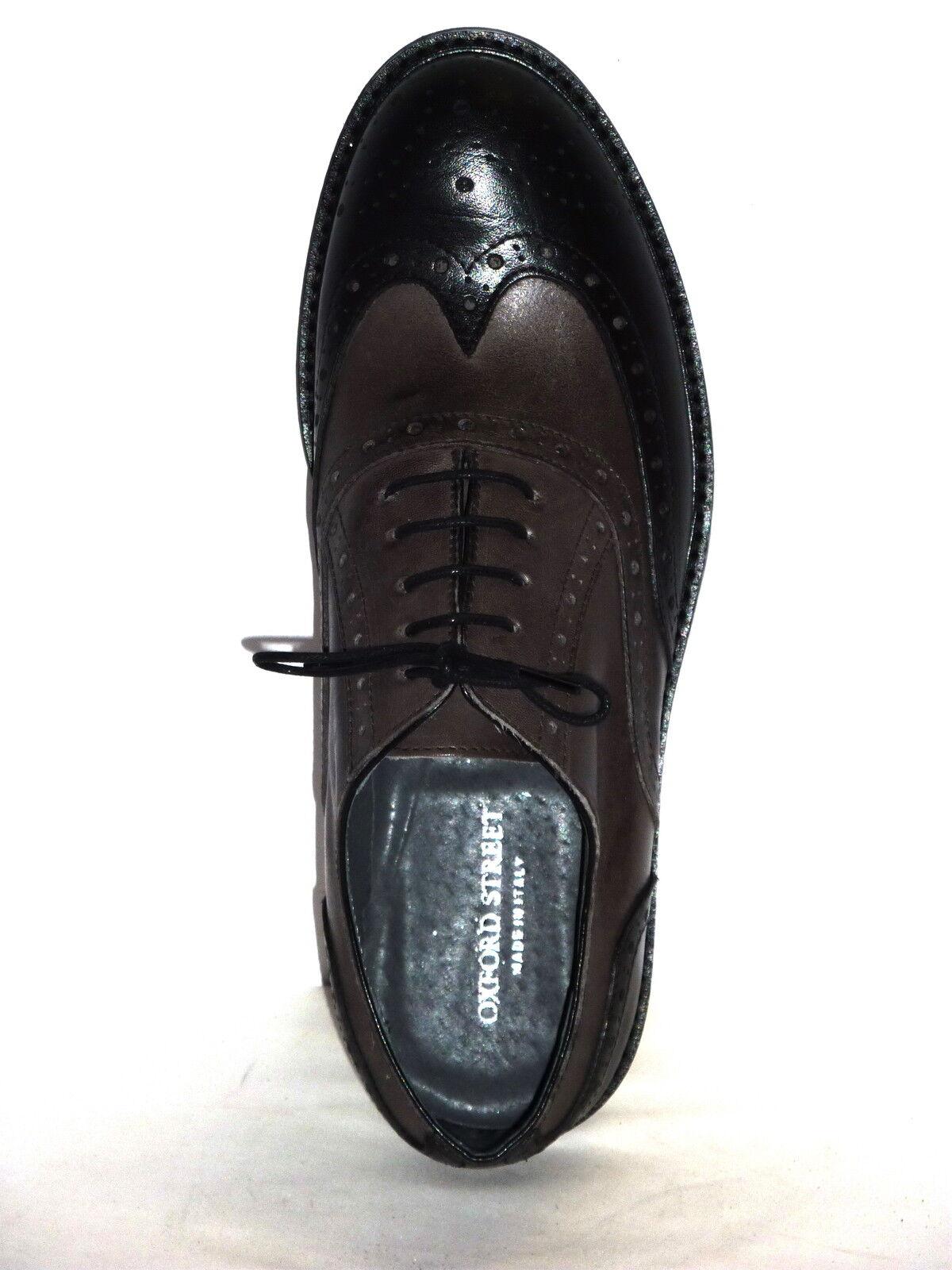 Herrenschuhe Casual Stil Englisch anschnallen n.45 schwarzes Leder grau n.45 anschnallen b7deba
