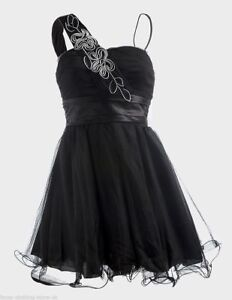 2b79619ee41 Black PROM DRESS Evening Ballgown Short Tulle Lined COCKTAIL PARTY ...