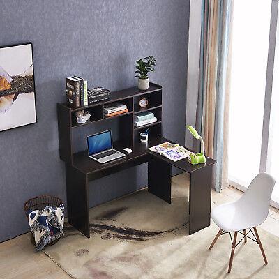 Mcombo L Shaped Desk Corner Desk Home Office Workstation Dark Brown   EBay