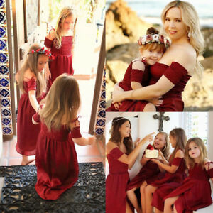 Mother-and-Daughter-Clothes-Parent-child-Tutu-Maxi-Dress-Family-Matching-Outfits