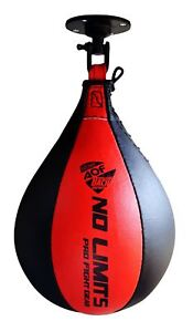 AQF-Leather-Speed-Ball-amp-Swivel-Boxing-Punch-Bag-MMA-Speed-Bag-Training-Set