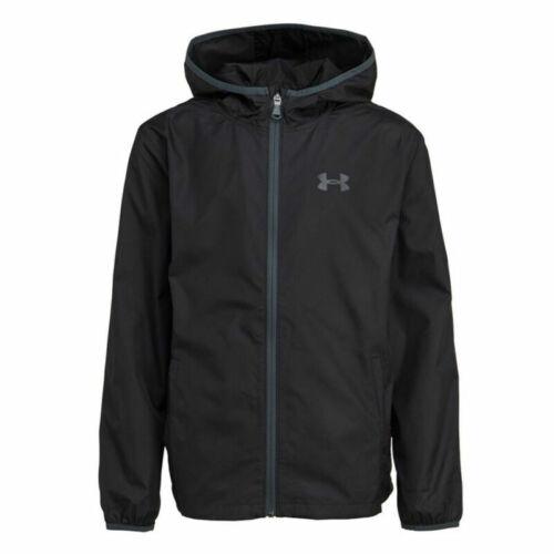 Under Armour UA Storm Sackpack Boys Loose Warm Up Top Black Kids Sports Jacket