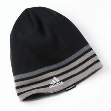 Adidas Men's Reversible Climawarm Eclipse Beanie Hat Gray/ BlacBrown  Nwt