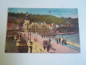 Vintage-Postcard-DINANT-Le-Pont-Et-L-039-Hotel-Des-Postes-Franked-Stamped-1926-A331