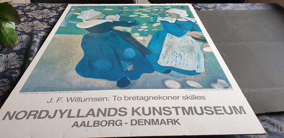 Plakat, J.F. Willumsen, motiv: 2 bretagnekoner skilles