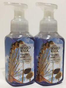 NEW-2-BATH-amp-BODY-WORKS-BOARDWALK-VANILLA-CONE-GENTLE-FOAMING-HAND-SOAP-8-75-OZ
