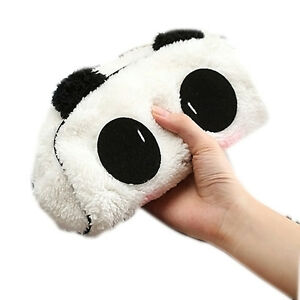 1-Panda-Pluesch-Bleistift-Kasten-Feder-Tasche-Kosmetik-Make-up-Bag-Maeppchen-B9W7