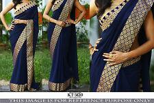 Bollywood Indian Ethnic Traditional Designer Saree Sari Bridal Party Wear Dress