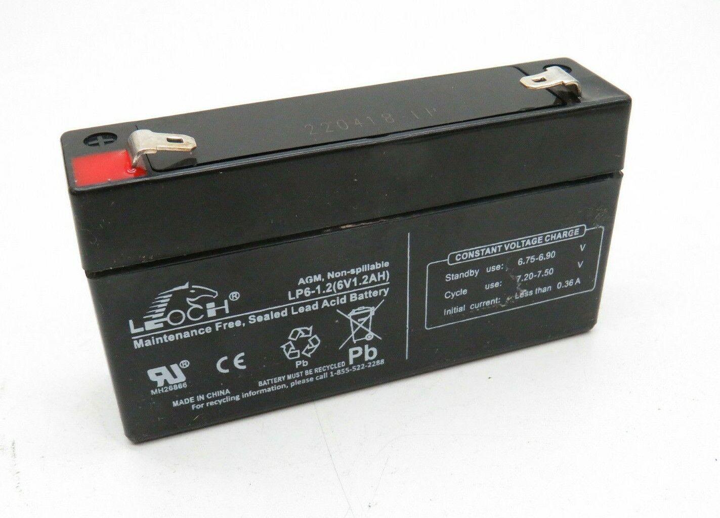 (4-Pack) Leoch LP6-1.2 Maintenance Free Sealed Lead Acid Battery 6-Volt 6V 1.2AH