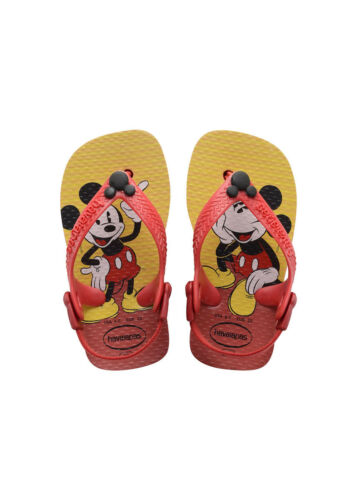 Havaianas Baby Disney Micky Mouse Red Black Infant Summer Sandals