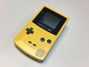 Nintendo Gameboy Color GBC yellow with Wario Super Mario Land game